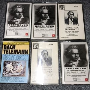 Beethoven and Bach Telemann cassette tapes